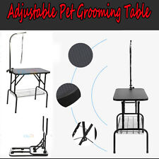"""32"""" Adjustable Pet Dog Cat Grooming Table Top w/Arm Noose Rubber Mat Portable"""
