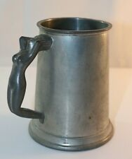 Pewter tankard with naked lady handle P1