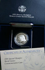 1995 Special Olympic World Games Proof Silver Dollar Coin Eunice Kennedy Shriver