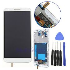 White For LG Optimus G2 D800 D801 LCD Display+Touch Screen Digitizer with Frame