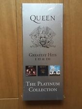 QUEEN - THE PLATINUM COLLECTION GREATEST HITS I II III CD & VIDEO LONGBOX RARE