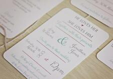 20 x Personalised Vintage Style Wedding Invitations stationery inc envelopes