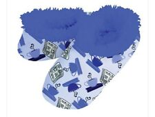 """Snoozies Slippers """"NEWSPAPER Worthy """" Print Size 9/10 LRG  NWT ONLY PAIR"""