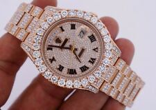 Unused Rolex Day Date II 2 President Rose Gold 33 Carat Diamonds Iced Out Video