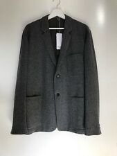 NEW Margaret Howell mens light grey wool relaxed cut single breasted jacket, M