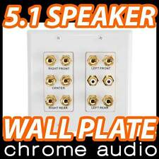 5.1 Surround Speaker Wall Plate inc. 2 Subwoofer RCA