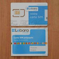 Lebara France French SIM Card for Voice / 3G Data - Easy Activation - NEW
