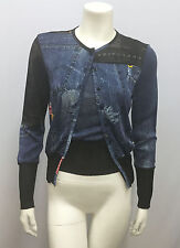 CHRISTIAN DIOR BOUTIQUE FOR GALLIANO TWINSET JEAN PRINTED MISS DIORELLA F 40 8 S