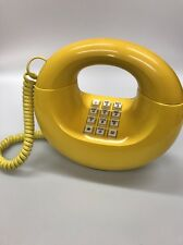"Vintage Working 70's Western Electric Yellow ""Doughnut"" Touch-Tone Telephone"
