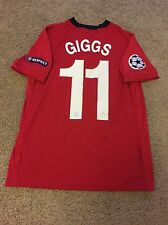 MANCHESTER UNITED HOME SHIRT 2009/10 CHAMPIONS LEAGUE ADULT MEDIUM (M) GIGGS 11