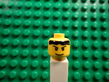 Lego mini figure 1 Yellow head with a face and black hair #103