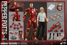 Iron Man 3: Pepper Potts and Mark IX - Sixth Scale Figure Set HOT TOYS AVENGERS