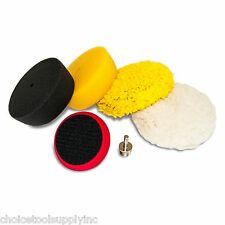 "5pc 3"" Mini Buffing Pad Detailing Kit Compounding Polishing Buffing Kit"