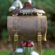 Herramienta De Silla De Montar De Cuero Genuino Bolsa сasket Craft Vintage Retro Motocicleta Moto Bicicleta