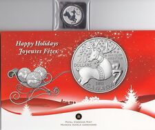 "CANADA, 2012, ""HAPPY HOLIDAY"" $20 SILVER COIN UNCIRCULATED CONDITION"