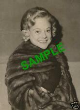 RARE ORIGINAL PRESS PHOTO - SONJA HENIE - FIGURE SKATER AND FILM STAR 1957