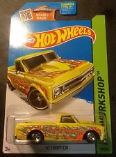 Hot Wheels CUSTOM Super 67 Chevy C10 with Real Riders