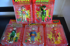 5 MAD Action Figures: The Flash, Green Lantern, Superman, Robin, Green Arrow