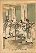 COSTUME NOUVEL UNIFORME POUR IMFIRMIERES NEW UNIFORM FRENCH NURSES  1903