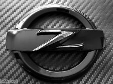 2X 370Z HIGH GLOSS BLACK FRONT + REAR Z LOGO EMBLEM BADGE 370 Z FAIRLADY BODYKIT