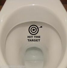 HIT THE TARGET removable waterproof toilet lid wall stickers Decals Decoration