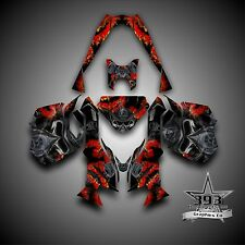 SKI-DOO REV XM SUMMIT SNOWMOBILE SLED GRAPHICS DECAL KIT WRAP TOXIC RED