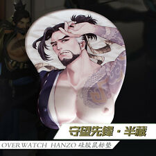 Game Mousepad Overwatch Hanzo 3D Breast Silicone Soft Play Mat Men Wrist Rest OW