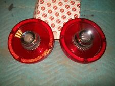 NORS 1965 Ford Custom Right and Left Tail Lamp Lens Pair W/Backup SER-DO FO-148