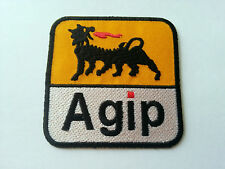 MOTOR RACING RALLY SPORT FUELS OILS SEW / IRON ON PATCH:- AGIP (a) SIX LEGS DOG