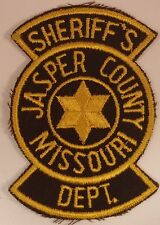 VINTAGE POLICE PATCH: Jasper County Missouri SHERRIF'S DEPT large 4.5""