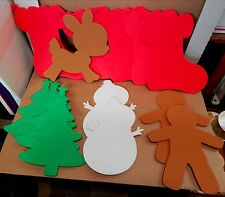 "Creatology Holiday Mix Lot Foam Shapes-14pc-8""x 10""-Michaels Stores-3+Christmas"