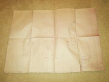 WW2 German Luftwaffe 100% ORIGINAL Fi-156 Bauplan Blueprint #3 - VERY RARE!!