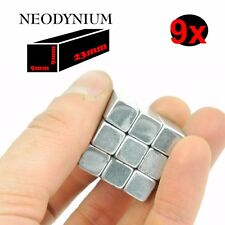 9 SUPER AIMANT MAGNET NEODYM neodymium 80KG 9x9x23mm N52 PUISSANT RECTANGLE