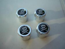 SKULL AND CROSSBONES JOLLY ROGER CAR  TYRE VALVE CAPS NEW B
