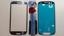 Samsung Galaxy S3 Blue Genuine Glass Replacement Screen Lens Tools + Adhesive
