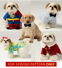 SEWING PATTERN! MAKE DOG CLOTHES! SUPERMAN~DRESS~COAT~WEDDING! SMALL~EXTRA LARGE