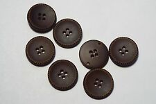 8pc 20mm dark brown faux cuir manteau pantalon cardigan kid bouton 2720