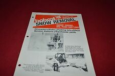 Bobcat Skid Loader Snow Removal Attachment Dealers Brochure DCPA2