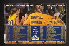 1997-98 Marquette Golden Eagles Basketball Magnet Schedule