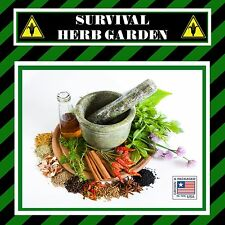 20 Varieties Survival Medicinal Herb Garden Seed Pack Non GMO Heirloom  Prepper