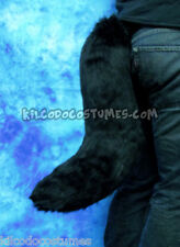 Handmade Black Faux Fur Costume Tail - Wolf Fox Furry Fursuit Cosplay