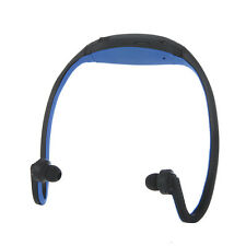 Cuffie Wireless mp3 WMA finestra MULTIMEDIALE LETTORE AUDIO TF/Micro SD Colore-Blu,