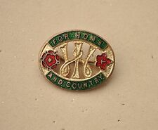 Vintage For home and Country Womens Institute WI Pin badge W.I