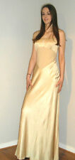 Ƹ̵̡Ӝ̵̨̄Ʒ Gianfranco Ferre Studio Gold Long Evening Dress Size 14 BNWT Ƹ̵̡Ӝ̵̨̄Ʒ