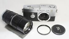 OLYMPUS PEN F Film Camera Body w/ Zuiko Auto Zoom 50-90mm F/3.5 Lens