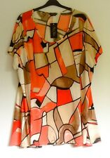 MARINA KANEVA Tunic Top UK 26 28 30 Eu 52 54 56 BNWT