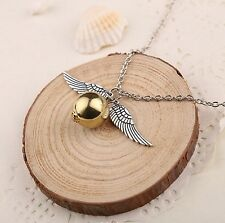 Free Gift Bag Silver Plated Harry Potter Golden Snitch Pendant Necklace Xmas
