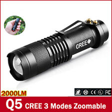 Cree Small 7W 300LM Adjustable Waterproof LED Flashlight Torch Zoomable Light