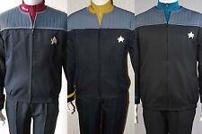 Star Trek NEM Duty Halloween Jacket+shirt+badge Yellow Red Blue Size S-2XL Outer
