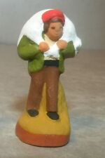 NEW Farmhand carrying a sheep,  for Santons 2 cm , Fouque